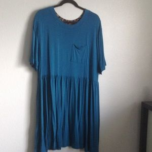 blue Kahlo tunic top